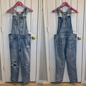 American Eagle Outfitters Jeans - American Eagle Button Up Light Blue Overalls, S!